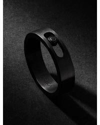 Messika Move Pm Blackened Titanium Diamond Ring - Gray