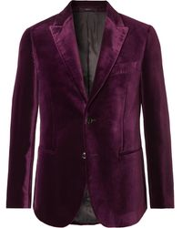 Paul Smith Burgundy Slim-fit Velvet Tuxedo Jacket - Purple