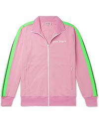 Palm Angels + Icecream Striped Printed Tech-jersey Track Jacket - Pink