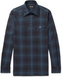 Tom Ford - Slim-fit Checked Cotton Shirt - Lyst