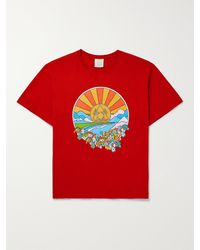 CAMP HIGH Sunshine Printed Cotton-jersey T-shirt - Red