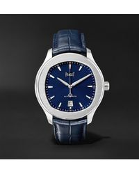 Piaget Polo S 42mm Stainless Steel And Alligator Watch, Ref. No. G0a43001 - Blue