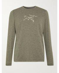 Arc'teryx Cormac Logo-print Ostria T-shirt - Green