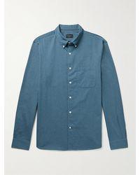 Club Monaco Button-down Collar Cotton-twill Shirt - Blue
