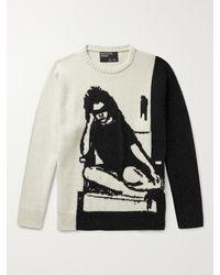 Enfants Riches Deprimes Intarsia Cashmere Sweater - Multicolour