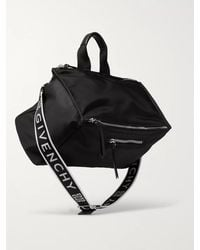 Givenchy Pandora Leather-trimmed Logo-print Shell Tote Bag - Black