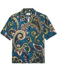 Dunhill - Camp Collar Paisley-print Cotton-canvas Shirt - Lyst