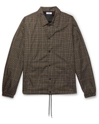 Cmmn Swdn - Prince Of Wales Check-printed Shell Jacket - Lyst