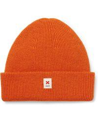 6403aa963 Cap Of Courage Ribbed Merino Wool Beanie - Orange