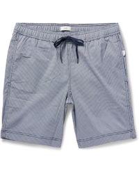 Onia - - Charles Mid-length Micro-gingham Swim Shorts - Navy - Lyst