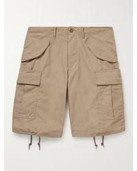 Beams Plus Cotton-ripstop Cargo Shorts - Natural