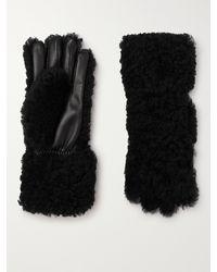 Bottega Veneta Soft-touch Shearling Gloves - Black