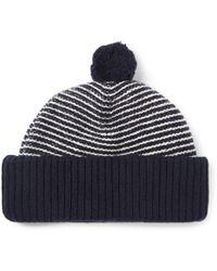 0c3f88acc3d Oliver Spencer - Dock Striped Wool Bobble Hat - Lyst