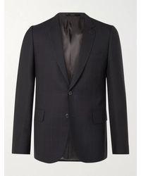 Paul Smith Slim-fit Checked Birdseye Wool Suit Jacket - Blue