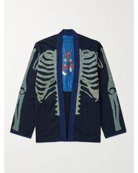 Kapital Indigo-dyed Printed Cotton Jacket - Blue