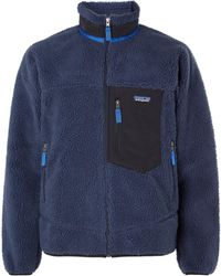 Patagonia Classic Retro-x Shell-trimmed Fleece Jacket - Blue