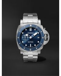 Panerai Submersible Blu Notte Automatic 42mm Stainless Steel Watch - Blue