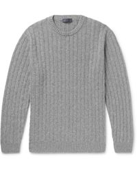 Thom Sweeney - Slim-fit Cable-knit Cashmere Sweater - Lyst