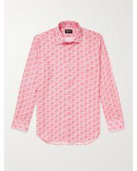 Emma Willis Printed Linen Shirt - Pink