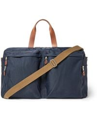 J.Crew - Harwick Leather-trimmed Canvas Holdall - Lyst
