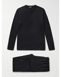Ermenegildo Zegna Techmerino Wool Pyjama Set - Blue