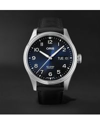 Oris Big Crown Propilot Big Day Date Automatic 44mm Stainless Steel And Leather Watch, Ref. No. 01 752 7760 4065-07 5 22 08lc - Blue