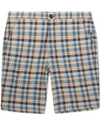 Oliver Spencer - Checked Cotton Drawstring Shorts - Lyst