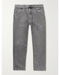 Acne Studios 1991 Toj Wide-leg Belted Jeans - Grey