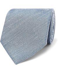 Brioni - 7cm Mélange Silk And Linen-blend Tie - Lyst