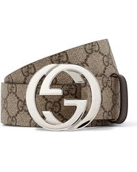 Gucci - Reversible GG Supreme Belt - Lyst