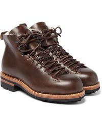 Feit - Hiker Shearling-trimmed Leather Boots - Lyst