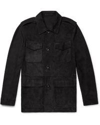 CONNOLLY Suede Safari Jacket - Black