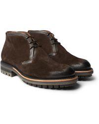 Berluti - Contrast Oslo Suede Boots - Lyst