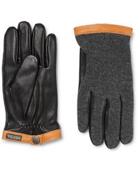 Hestra - Tricot-panelled Leather Gloves - Lyst