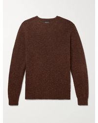 Howlin' By Morrison Birth Of The Cool Brushed Virgin Wool Jumper - Brown