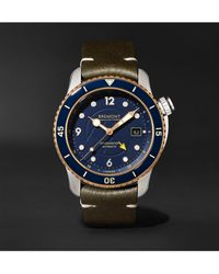 Bremont Project Possible Limited Edition Automatic Gmt 43mm Titanium, Bronze And Leather Watch, Ref. Project-possible-r-s - Blue