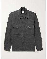 Paul Smith Wool-flannel Overshirt - Grey