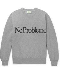 Aries - No Problemo Printed Fleece-back Cotton-jersey Sweatshirt - Lyst