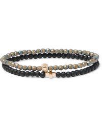 Luis Morais - Set Of Two Glass And 14-karat Gold Bracelets - Lyst
