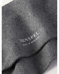 Sunspel Stretch Cotton-blend Socks - Grey