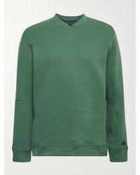 adidas Originals Go-to Cotton-blend Jersey Golf Sweatshirt - Green