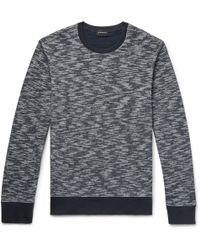 Club Monaco - Slim-fit Space-dyed Cotton Sweatshirt - Lyst