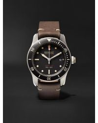 Bremont - Supermarine S301 Black Automatic 40mm Stainless Steel And Leather Watch, Ref. S301-bk-r-s - Lyst