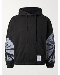 Satisfy - Logo-print Tie-dyed Fleece-back Cotton-jersey Hoodie - Lyst