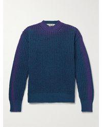 Marni Ombré Ribbed Wool Jumper - Blue