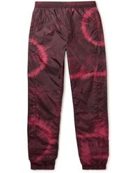 Acne Studios Tapered Tie-dyed Nylon Track Pants - Pink