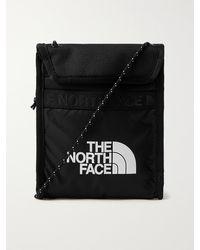 The North Face Bozer Logo-print Ripstop And Canvas Messenger Bag - Black