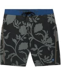 Outerknown - Long-length Printed Swim Shorts - Lyst