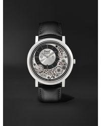 Piaget Altiplano Ultimate Automatic 41mm 18-karat White Gold And Alligator Watch - Metallic