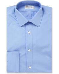 Charvet - Blue Cotton Shirt - Lyst